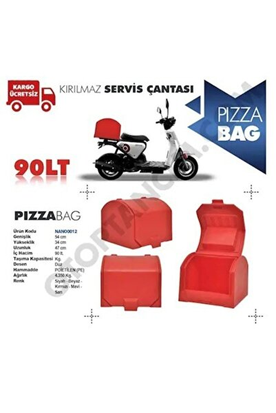 Gcotomotiv Motorsiklet Pizza/servis Çantası Kırmızı 90 Litre