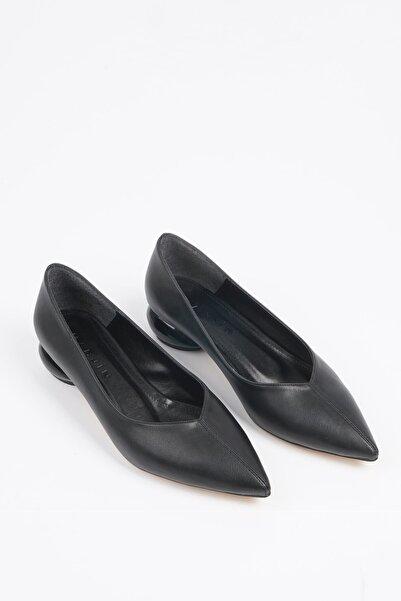 Marjin Evara Kadın Günlük Klasik Topuklu Ayakkabısiyah
