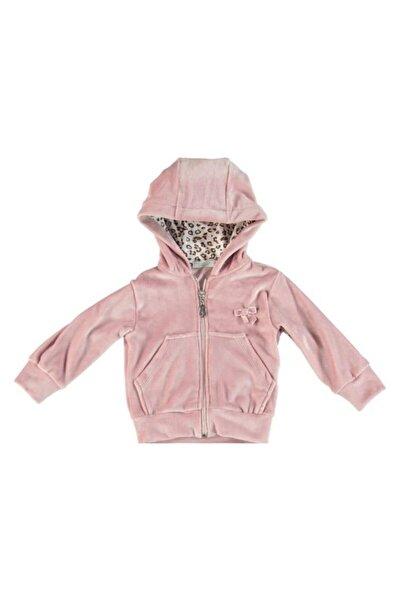 Monna Rosa Kız Çocuk Pudra Kadife Sweatshirt