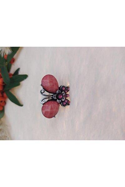 Hd Marketim Çocuk Gümüş Kelebek Figürlü Yüzük Kristalli AyarlanabilirYüzük