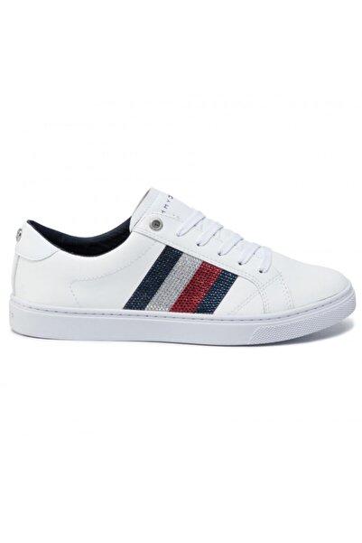 Tommy Hilfiger Kadın Crystal Leather Casual Sneaker Fw0fw04299 100