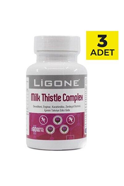 Ligone Milk Thistle Complex 60 Kapsül X 3 Adet