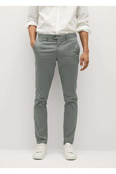 MANGO Man Erkek Yeşil Dar Kesim Serj Chino Pantolon