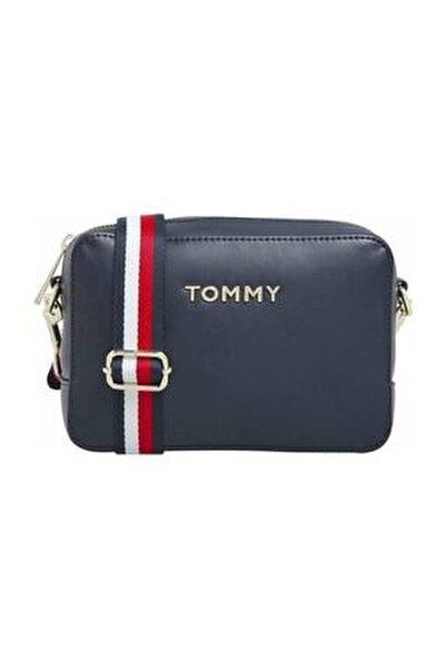 Kadın Mavi Omuz Çantası Iconıc Tommy Camera Bag AW0AW08608