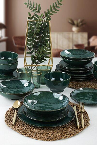 Keramika Zümrüt Yemek Takımı 24 Parça 6 Kişilik