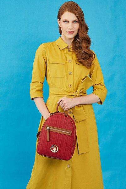 U.S. Polo Assn. Kadın Kırmızı Sırt Çantası Us8709