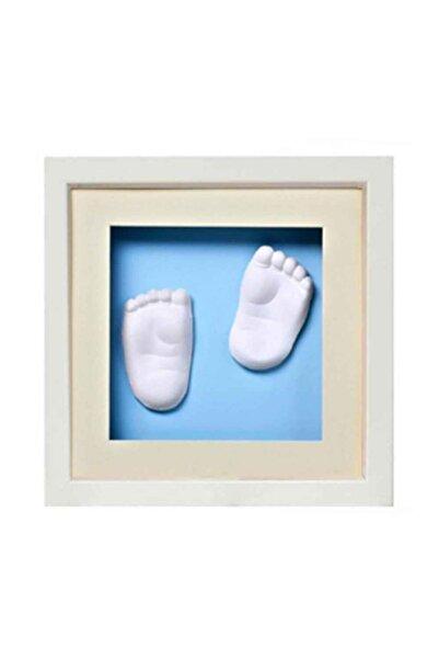 Baby Memory Beyaz Prints El Ve Ayak Izi 3d Çerçeve