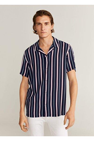 MANGO Man Standart Kesim Çizgili Gömlek