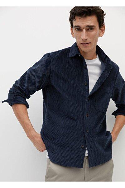MANGO Man Regular Kesimli Fitilli Kadife Gömlek Ceket