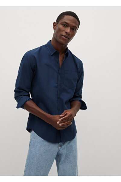 MANGO Man Erkek Regular Kesim Pamuklu Yumuşak Gömlek