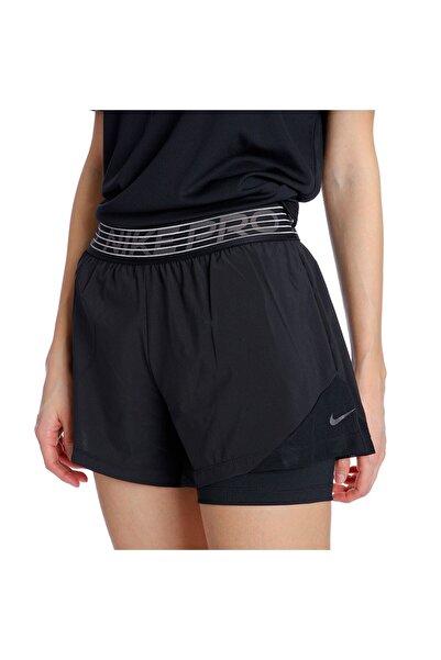 Nike Kadın Siyah Pro Flex 2-in-1 Şort