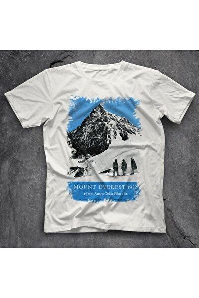 TisortFabrikasi Unisex Beyaz Everest Baskılı Tişört