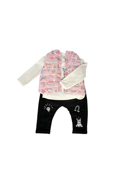 Hippıl Baby Hippil Unicorn Şişme Yelek Kız Bebek 3 Parça Takım 1192