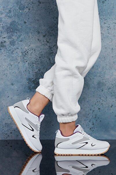DARK SEER Beyaz Mor Kadın Sneaker