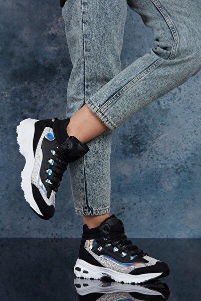 DARK SEER Siyah Beyaz Kadın Sneaker