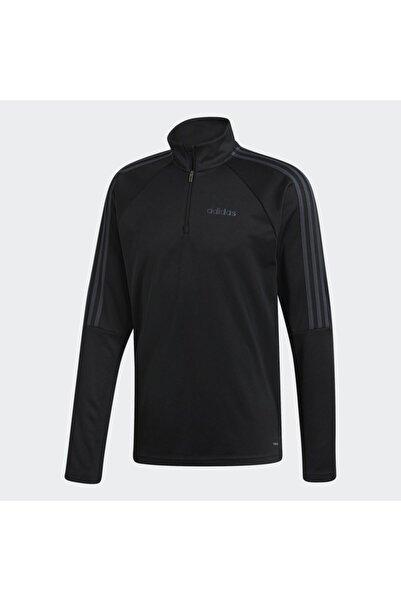 adidas Erkek Siyah Fermuarlı Sweatshirt Dy7980