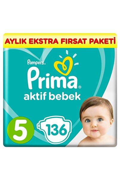 Prima Aktif Bebek 5 Beden 136 Adet Aylık Ekstra Fırsat Paketi