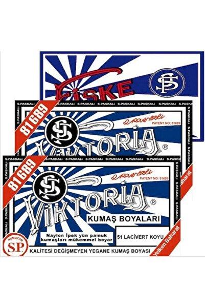 Viktoria Kumaş Boyası Lacivert Koyu 2 Paket + Fiske Sabitleme 1 Paket