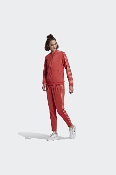 adidas Kadın Kırmızı Fermuarlı Spor Eşofman Takımı