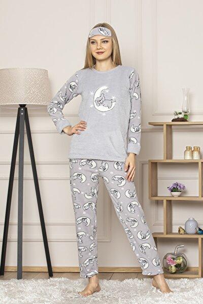 Kompedan Kadın Gri Pijama Takım