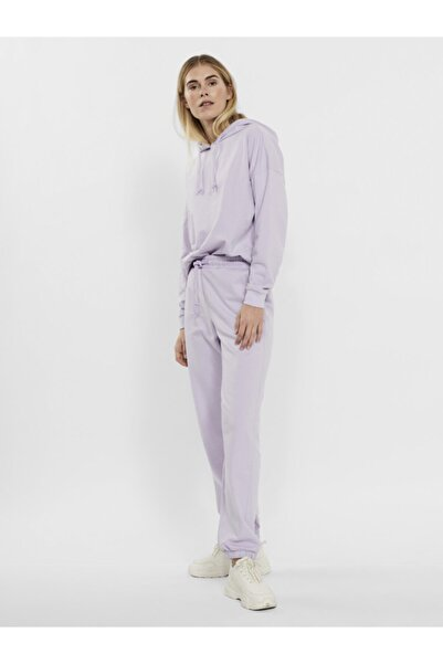 Vero Moda Kadın Pastel Lilac Paçası Lastikli Yüksek Bel Jogger Pantolon 10251096 Vmoctavıa