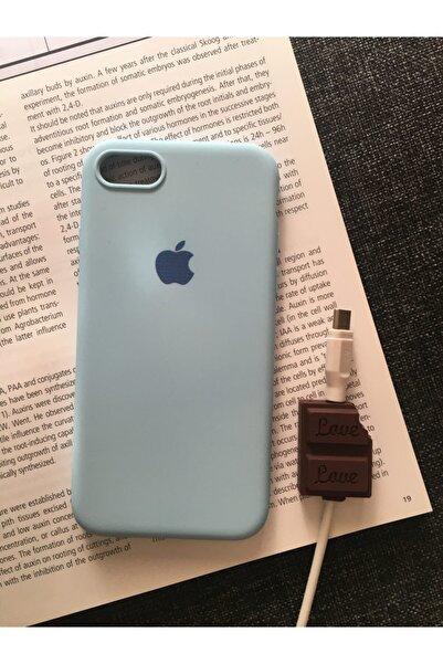 SUPPO Iphone 7/8 Logolu Lansman Kılıf+kablo Koruyucu