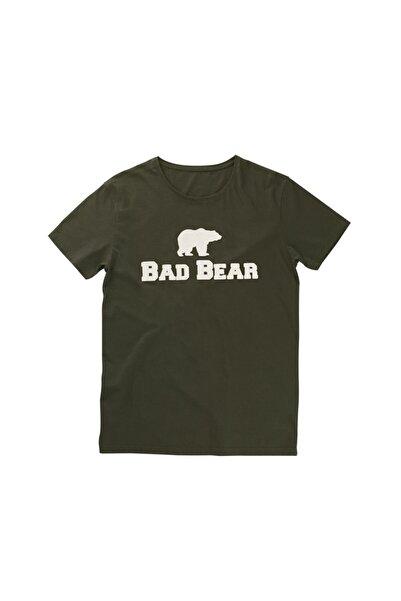 Bad Bear Erkek Haki Bisiklet Yaka Tişört
