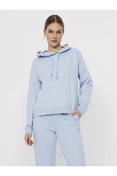 Vero Moda Kadın Omuzları Düşük Kapüşonlu Sweatshirt 10252958
