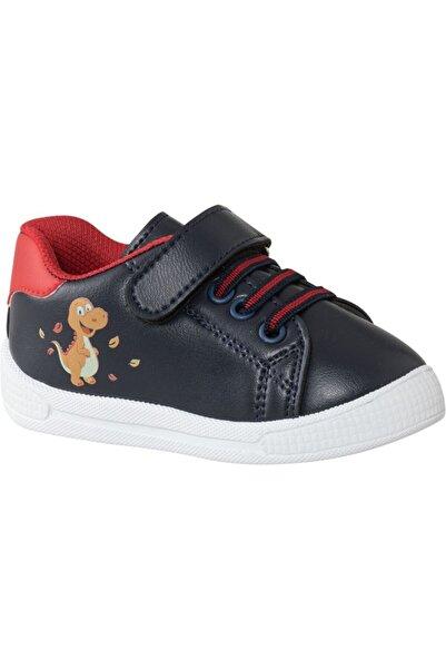 Bobbi-Shoes Erkek Çocuk Mavi Baskılı Bantlı Ayakkabı