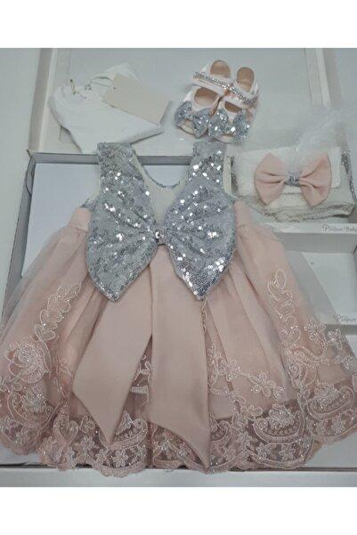 Ponpon Baby Kız Bebek Mevlüt Takımı Mevlütlük Gelinlik Elbise Lohusa Bebek Doğum Hediyesi Baby Shower Set