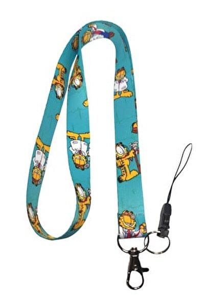 Garfield Desenli Limited Edition Boyun Ipi Telefon Askısı
