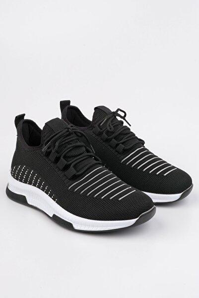 Marjin Anoz Kadın Çorap Sneaker Spor Ayakkabısiyah