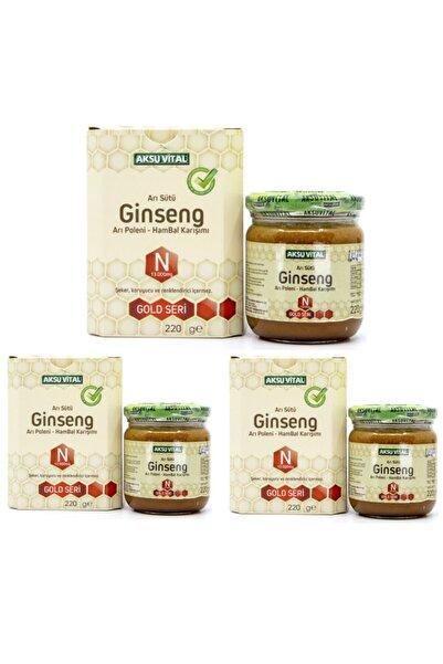 Aksu Vital Aksuvital Ginsengli Arı Sütü Bal Polen (n) 13.000 mg. x 3 Adet