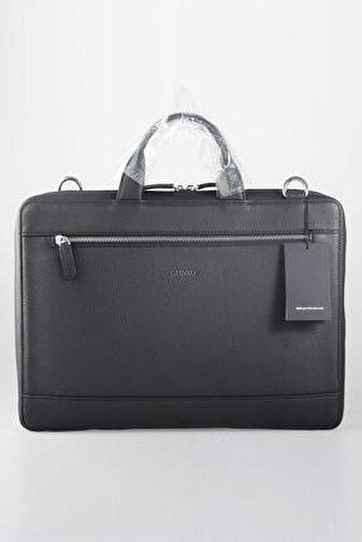 Hakiki Gerçek Deri Laptop ve Evrak Çantası Siyah - Pudingim - Özel Üretim