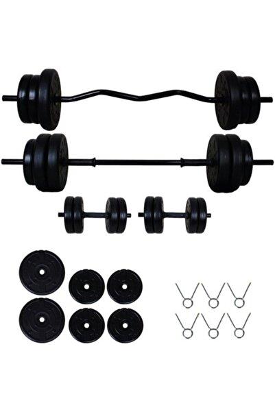 Aydın Sport 28 kg Z Bar Halter Seti Ve Dambıl Seti