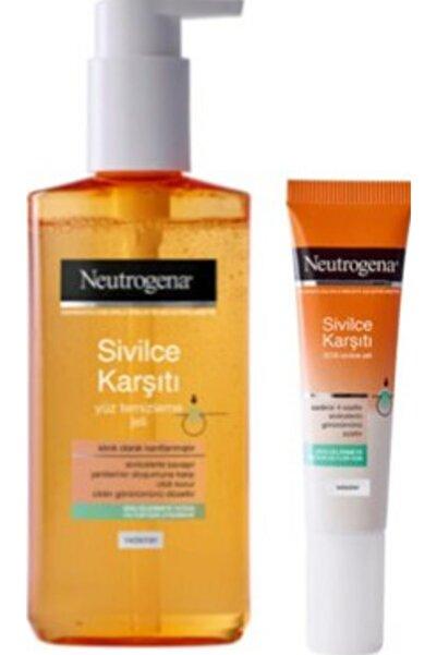 Neutrogena Sivilce Karşıtı Yüz Temizleme Jeli Ve Sivilce Karşıtı Sos Sivilce Jeli
