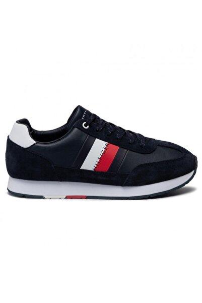 Tommy Hilfiger Erkek Lacivert Kırmızı Beyaz Çizgili Sneaker Fm0fm02380 U005147