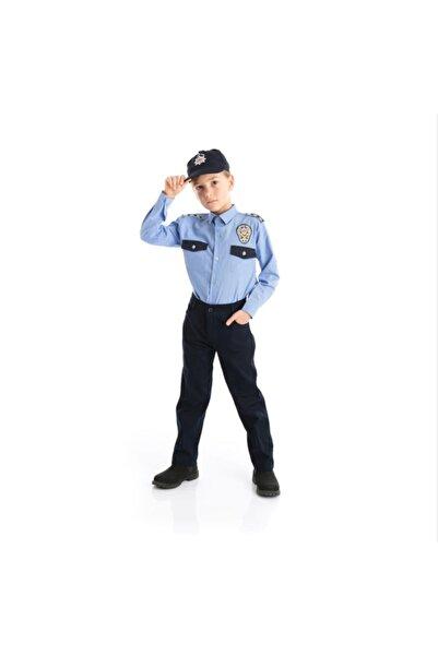 Melody's Store Erkek Çocuk Mavi Gömlekli Polis Kıyafeti