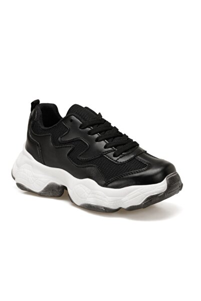 Torex Sabrına W Siyah Kadın Kalın Taban Sneaker Spor Ayakkabı