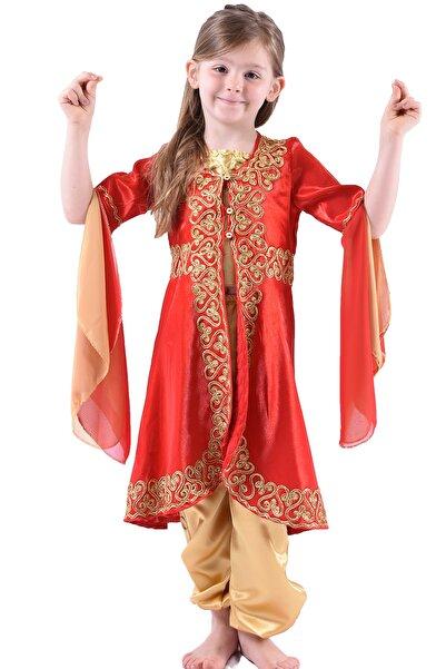 ceocuk Kırmızı Çocuk Kaftan Bindallı Kına Elbisesi