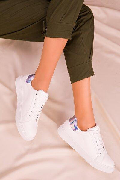 SOHO Beyaz-Neon Kadın Sneaker 14395