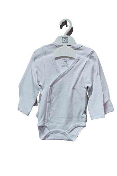 Bibaby Boze Eldivenli Kruvaze Body 2 Li 56671 Beyaz