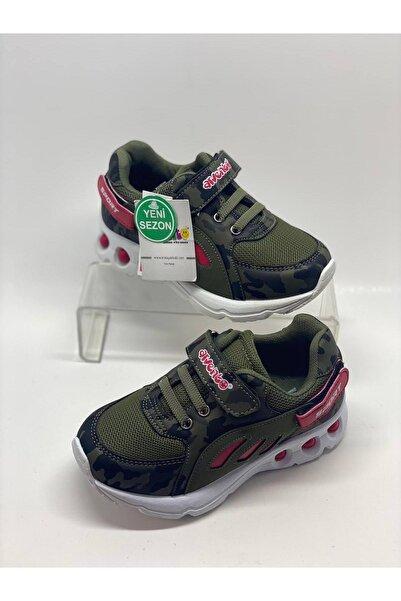 Arvento Çocuk Haki Cırtlı Spor Ayakkabı