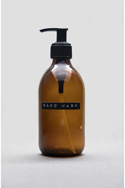 TriChi Design 300ml Kahverengi Amber Cam Sıvı Sabunluk Hand Wash