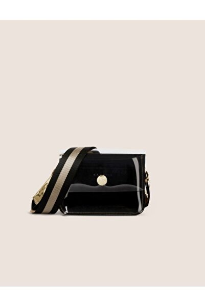 Armani Exchange Kadın Siyah Suni Deri Çanta