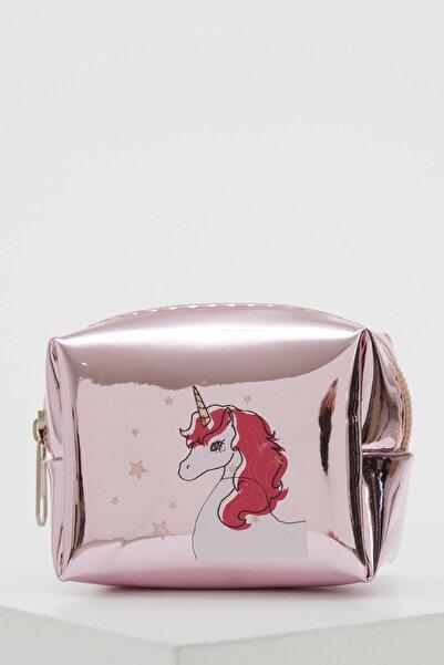 DeFacto Unicorn Baskılı Fermuarlı Küçük Çanta