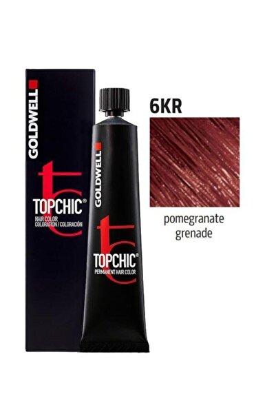 GOLDWELL Topchic Saç Boyası 6kr Nar Kızılı 60 ml + Oksidan