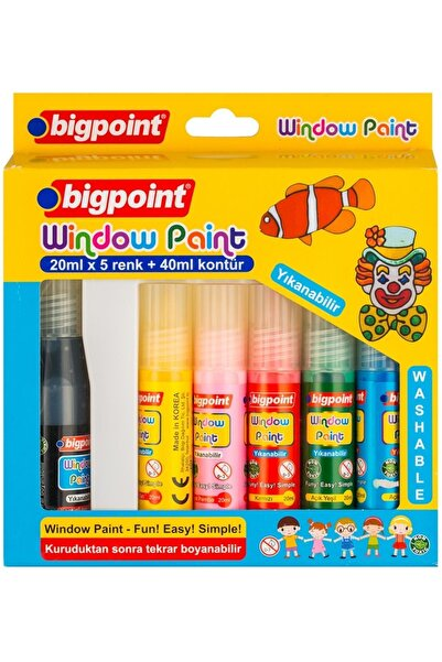 Bigpoint Cam Boyası (window Paint) 5 Renk X 20 ml