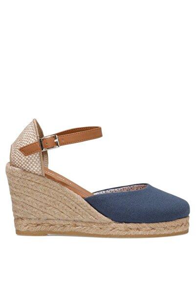 Nine West ARTEMISIA 1FX Lacivert Kadın Dolgu Topuklu Sandalet 101017833