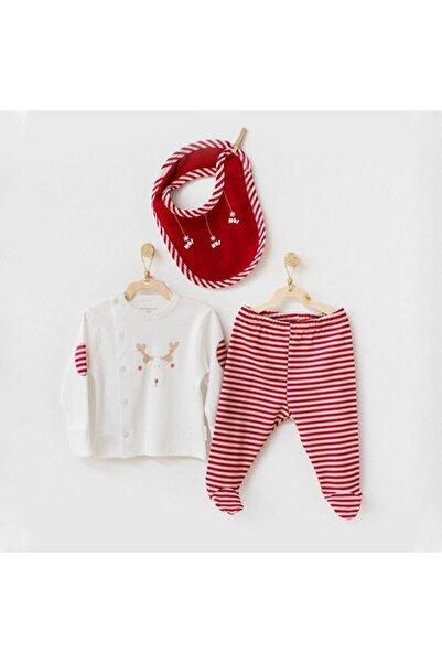 andywawa Erkek Bebek Kırmızı Yeni Yıl 3'lü Takım Ac21269